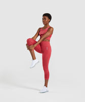 Gymshark Energy+ Seamless Crop Top - Red 9