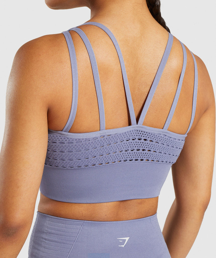 Gymshark Energy+ Seamless Crop Top - Steel Blue 6