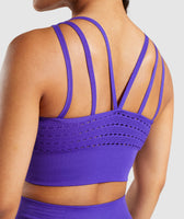 Gymshark Energy+ Seamless Crop Top - Indigo 11