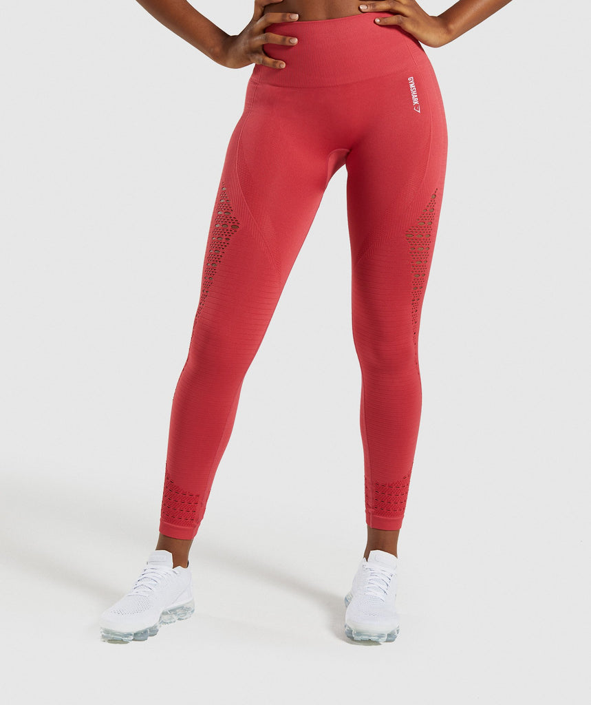 Gymshark Energy+ Seamless Leggings - Red 1