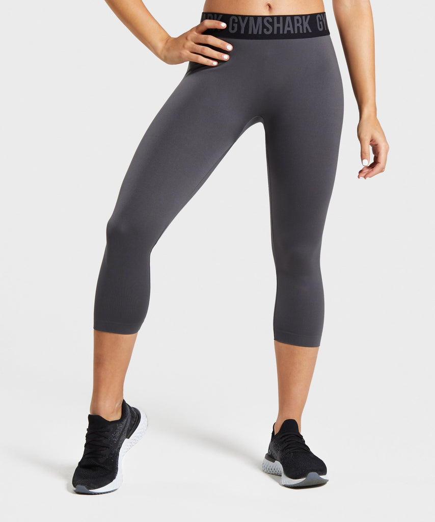 Gymshark Fit Cropped Leggings - Charcoal/Black 1
