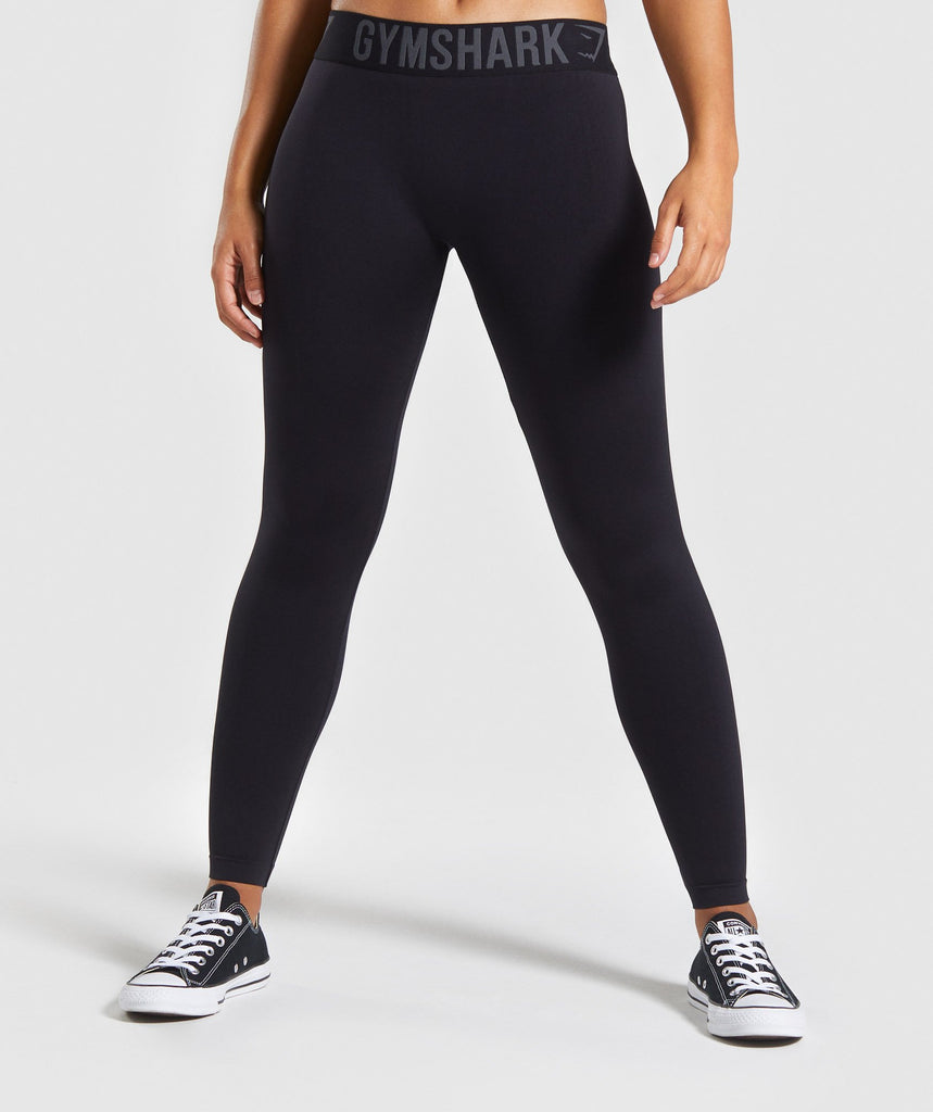 Gymshark Fit Leggings - Black/Black 1