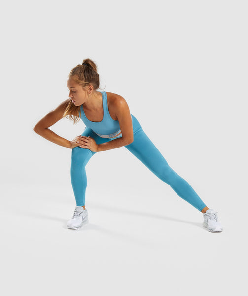 Gymshark Fit Leggings - Dusky Teal/Light Grey 4