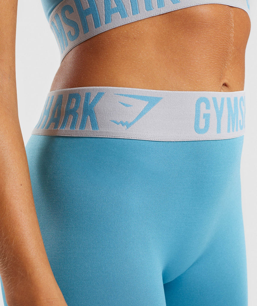 Gymshark Fit Leggings - Dusky Teal/Light Grey 6