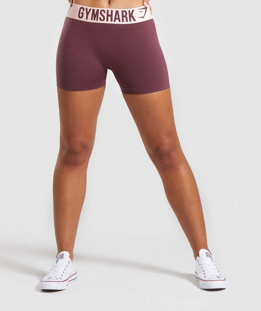 Gymshark Fit Shorts - Berry Red/Pink 1