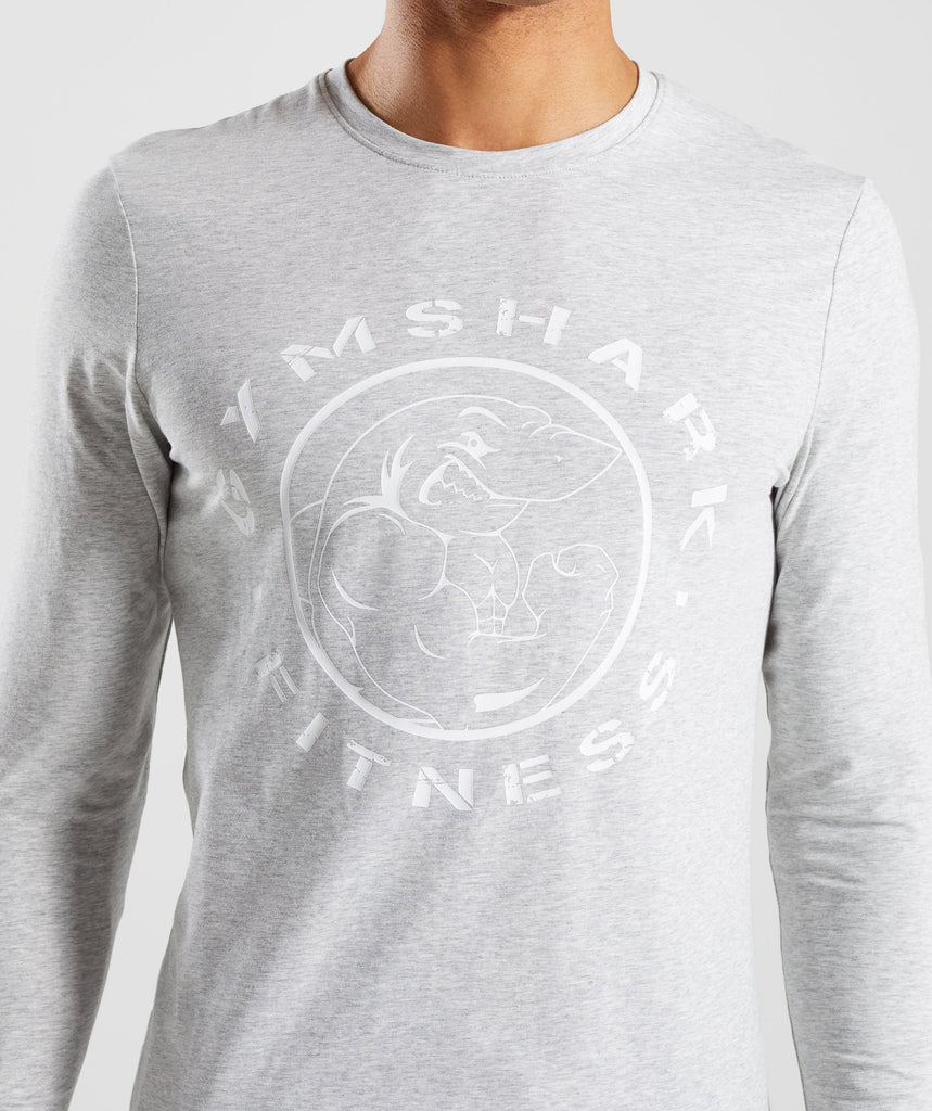 Gymshark Legacy Long Sleeve T-Shirt - Wolf Grey Marl 5