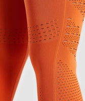 Gymshark Flawless Knit Tights - Burnt Orange 12