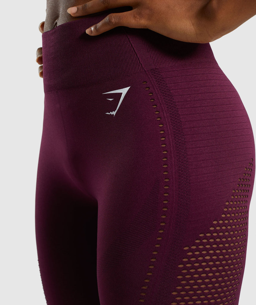 Gymshark Flawless Knit Tights - Ruby 6