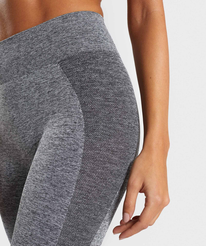 Gymshark Flex High Waisted Leggings - Grey/Pink 5