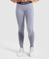 Gymshark Flex Leggings - Steel Blue Marl/Evening Navy Blue 6
