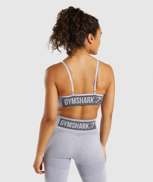 Gymshark Flex Strappy Sports Bra - Blue/Grey 1