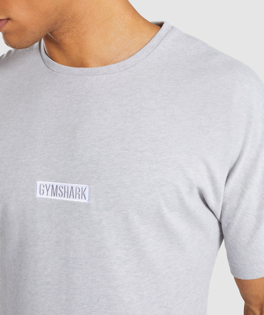 Gymshark Fresh T-Shirt - Light Grey Marl 5