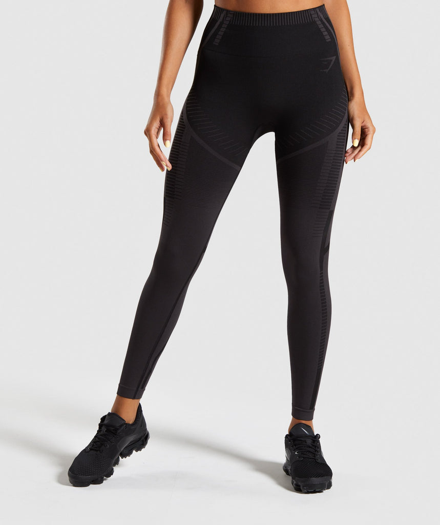 Gymshark Geo Seamless Leggings - Black 1