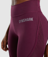 Gymshark Geo Mesh Leggings - Dark Ruby 12