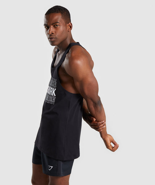 Gymshark Haze Stringer - Black 4