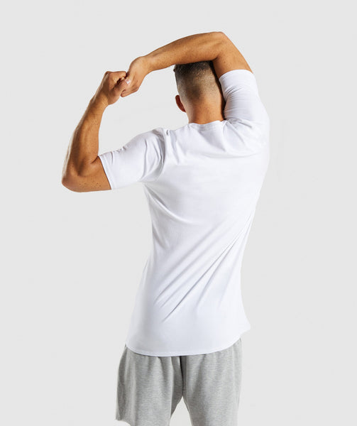 Gymshark Etch T-Shirt - White 1