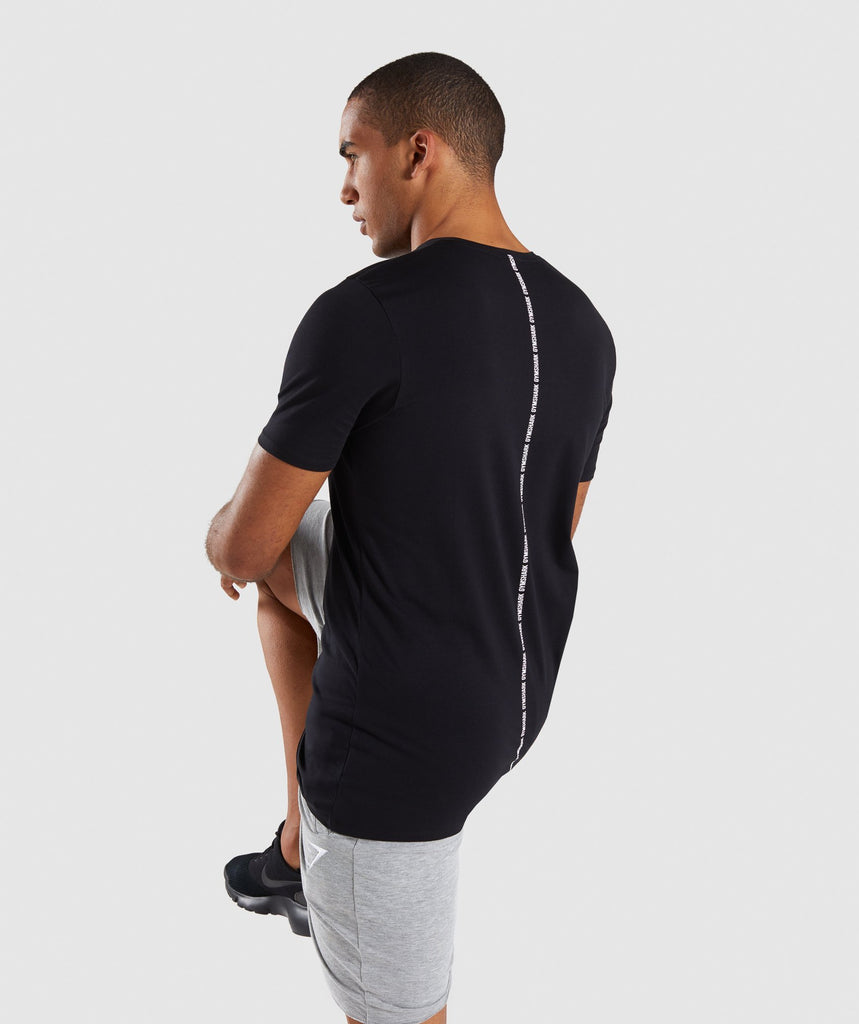 Gymshark Linear T-Shirt - Black 1