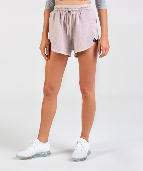 Gymshark Heather Dual Band Shorts - Taupe Marl 3
