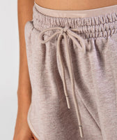 Gymshark Heather Dual Band Shorts - Taupe Marl 12