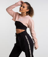 Gymshark Super Cropped Sweater - Blush Nude 7