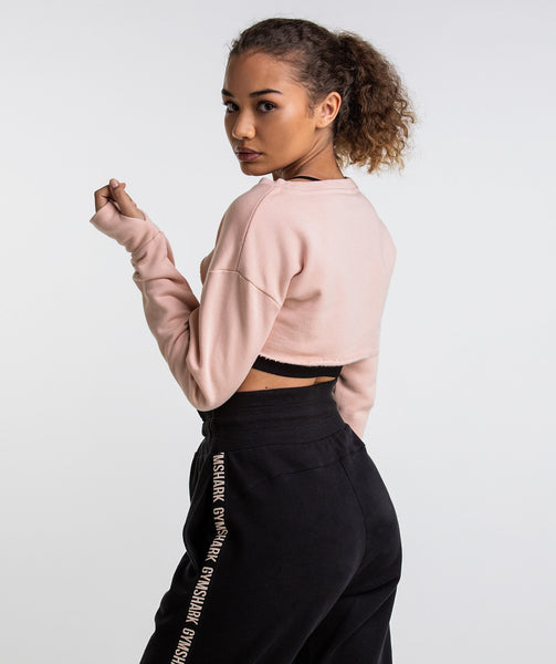 Gymshark Super Cropped Sweater - Blush Nude 1