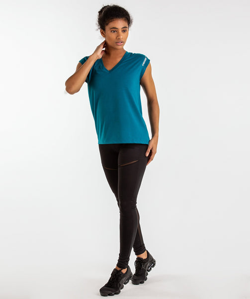 Gymshark Pleat Back Tee - Deep Teal 3