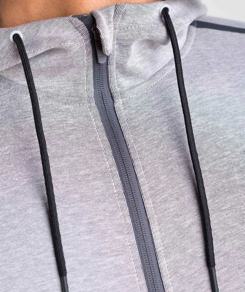 Gymshark Take Over Zip Hoodie - Light Grey Marl 6