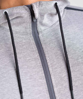 Gymshark Take Over Zip Hoodie - Light Grey Marl 12