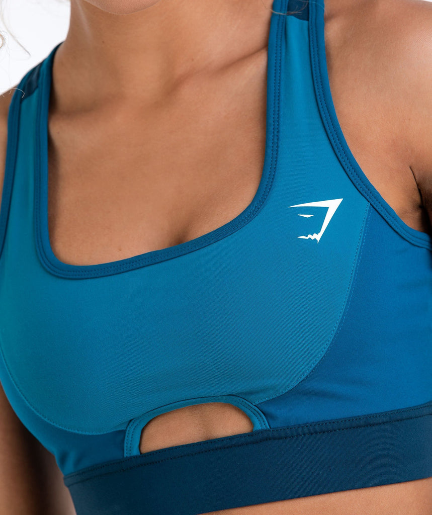 Gymshark Tonal Block Sports Bra - Deep Teal 5