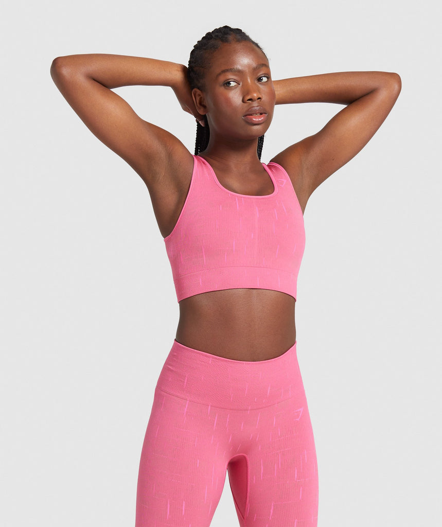 Gymshark Illumination Seamless Sports Bra - Pink/Pink 1