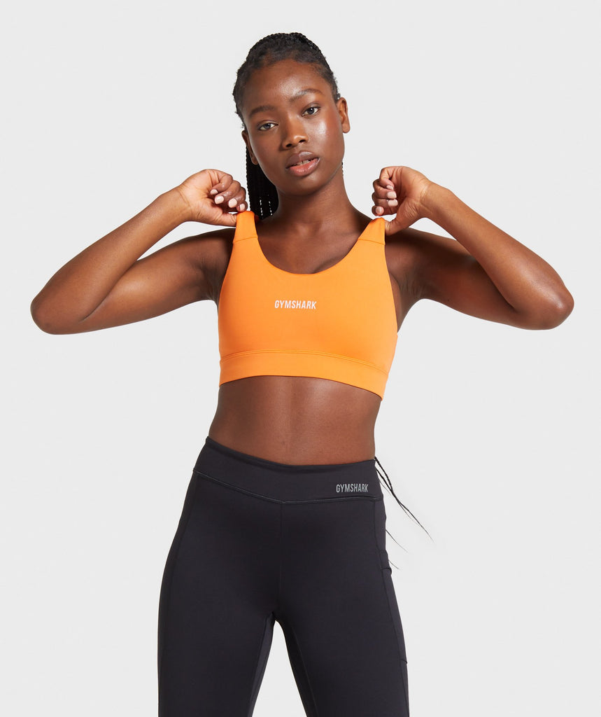 Gymshark Illumination Sports Bra - Orange 1
