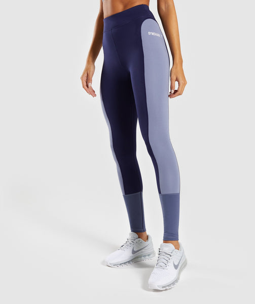 Gymshark Illusion Leggings - Evening Navy Blue/Steel Blue/Night Shadow Blue 4