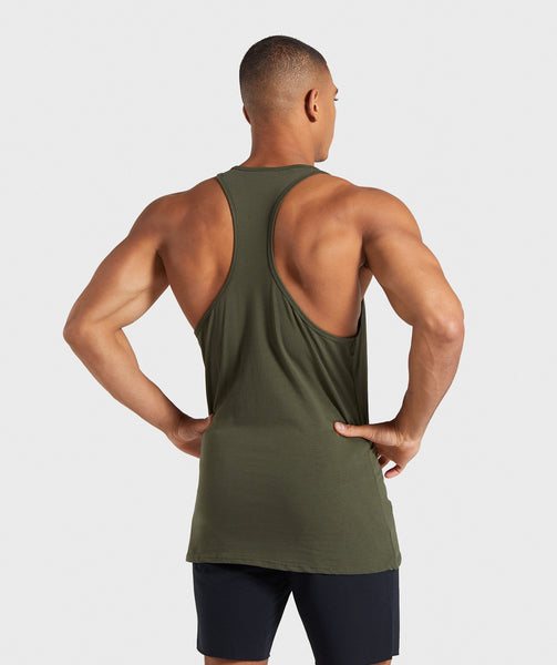 Gymshark Ion Stringer - Woodland Green 1