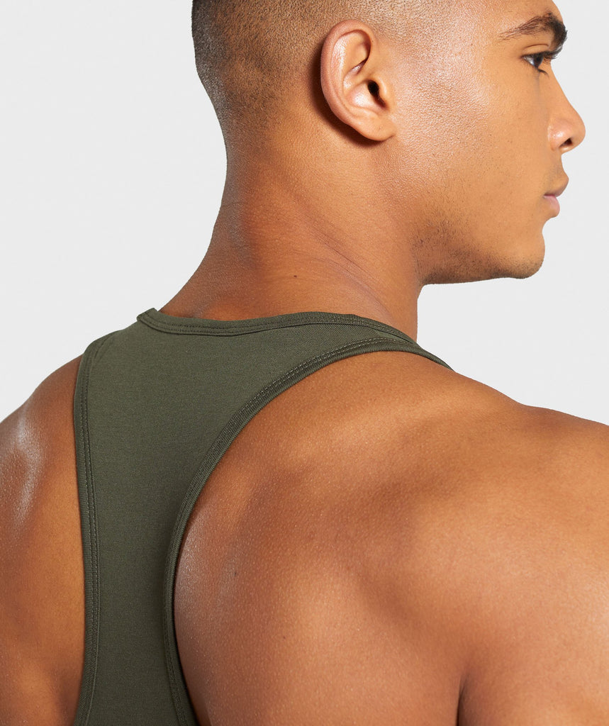 Gymshark Ion Stringer - Woodland Green 6