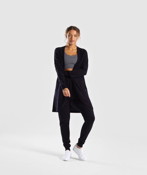Gymshark Isla Knit Open Cardigan - Black 3