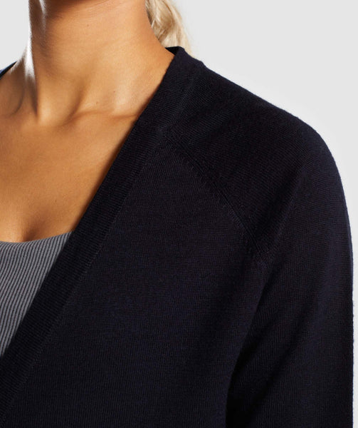 Gymshark Isla Knit Open Cardigan - Black 4