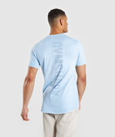 Gymshark Laundered T-Shirt - Light Blue 8