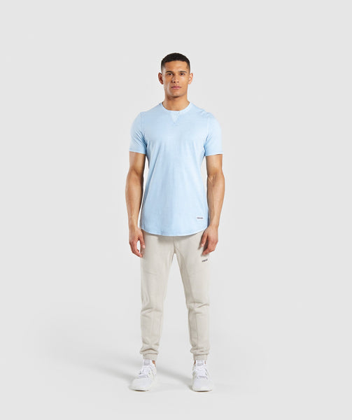 Gymshark Laundered T-Shirt - Light Blue 2
