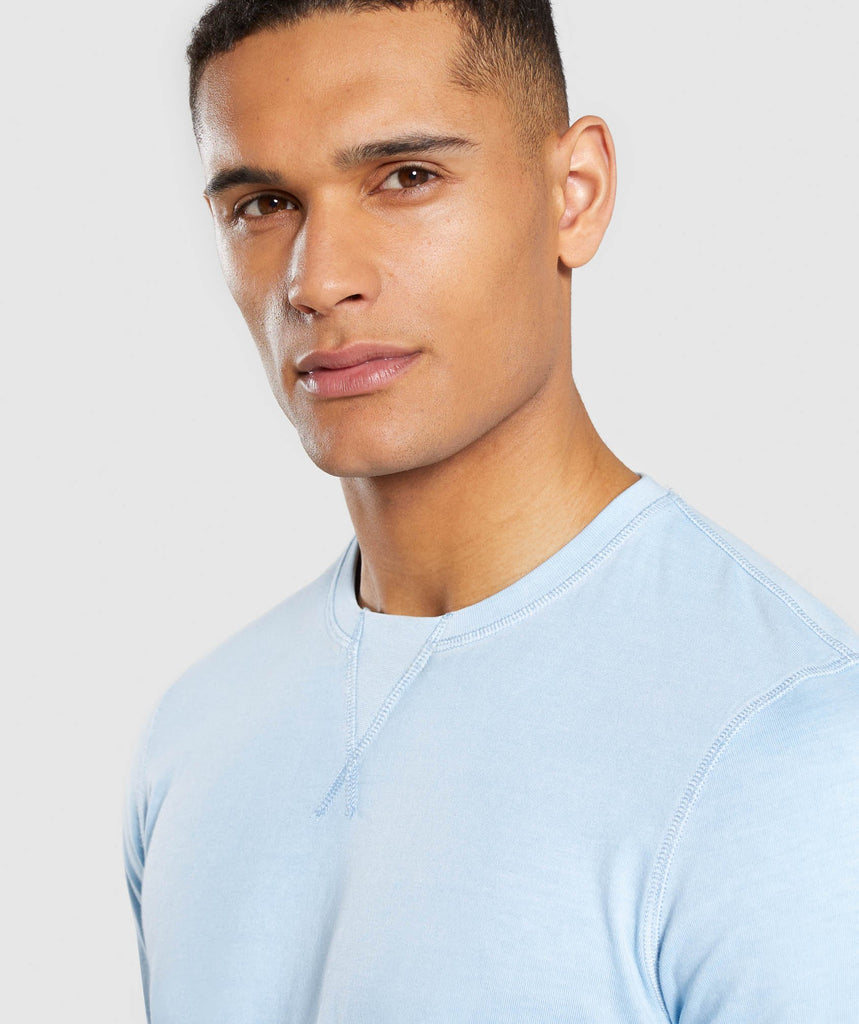 Gymshark Laundered T-Shirt - Light Blue 5
