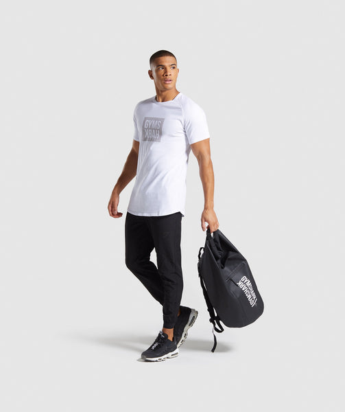 Gymshark Laundered Square Logo T-Shirt - White 2