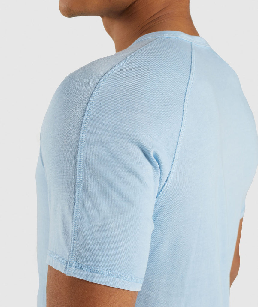 Gymshark Laundered Square Logo T-Shirt - Blue 5