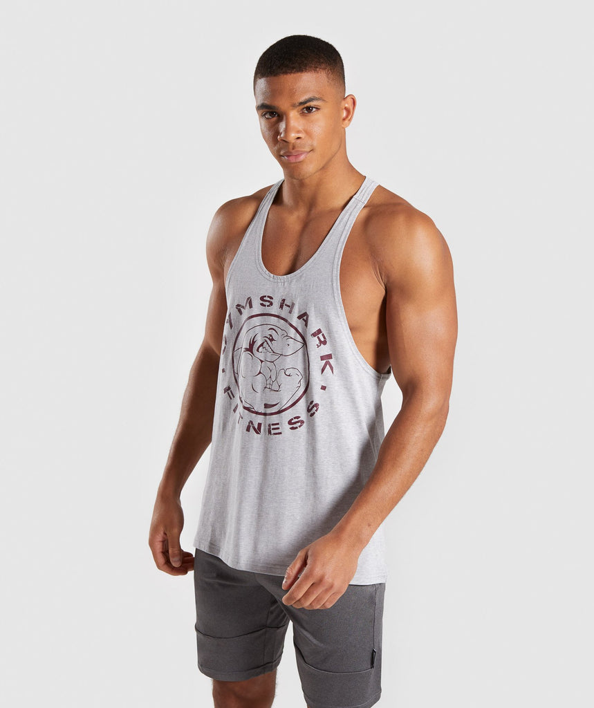 Gymshark Legacy Stringer - Grey/Red 1