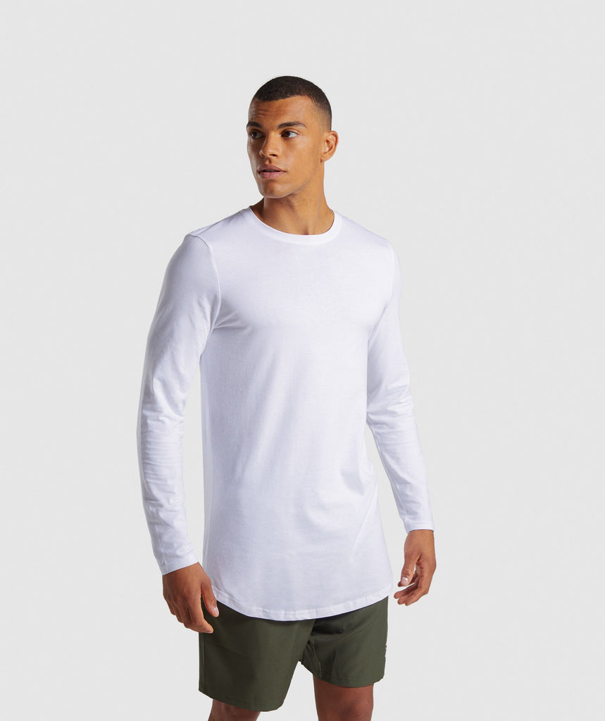 Gymshark Living Long Sleeve T-Shirt - White 1
