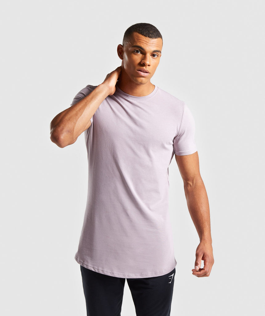 Gymshark Living T-Shirt - Purple Chalk 1