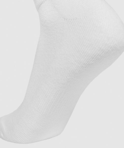 Gymshark Mens Trainer Socks (3pk) - White 3