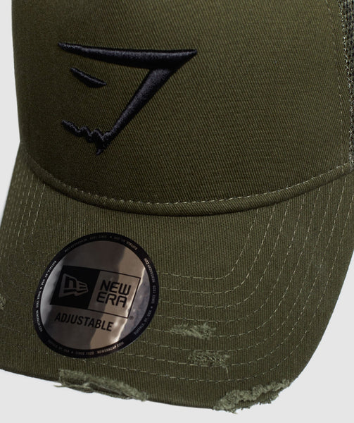 Gymshark New Era Distressed Trucker - Green 2