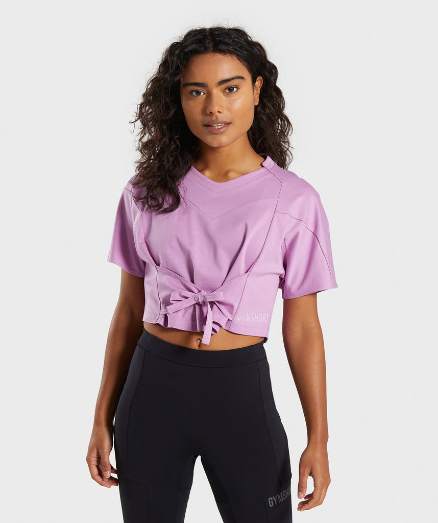 Gymshark Ori Crop Top - Pink 1
