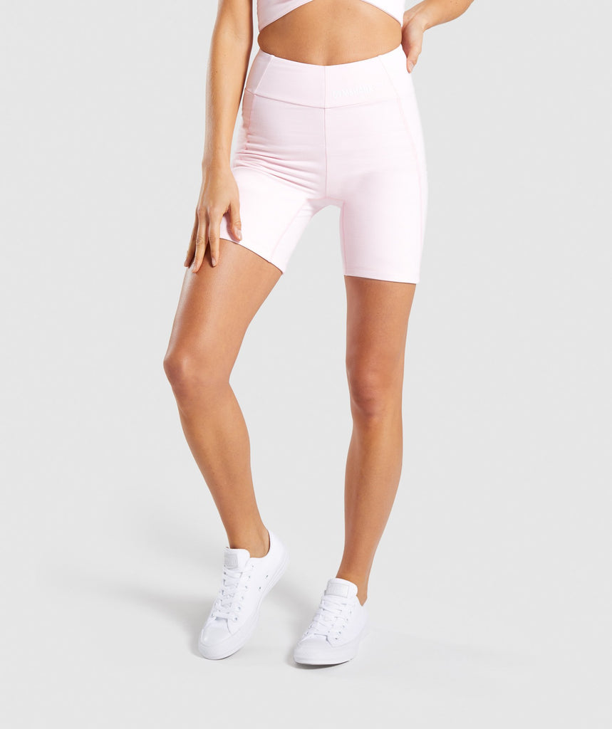 Gymshark Pastel Cycling Shorts - Chalk Pink 1