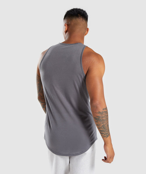 Gymshark Perforated Longline Tank - Smokey Grey 1