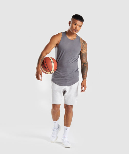Gymshark Perforated Longline Tank - Smokey Grey 3